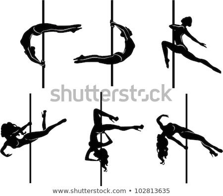 Pole Dancing Women Silhouettes Set Stock photo © Krisdog