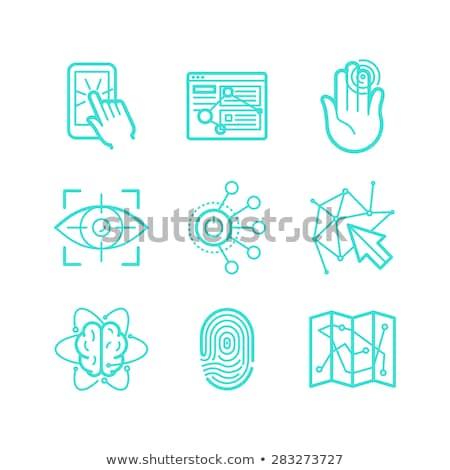 Vetor linear telefone tecnologia ícone mão Foto stock © kyryloff