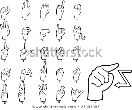 hand demonstrating a in the alphabet of signs stock photo © vladacanon