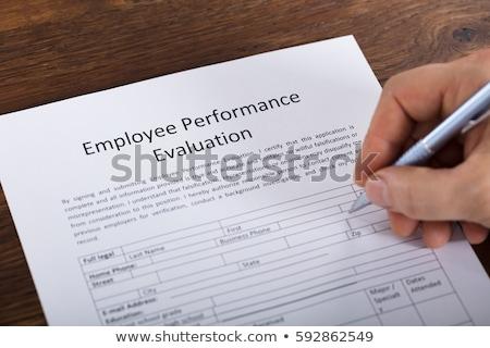 rendimiento · evaluación · forma · primer · plano · evaluación - foto stock © andreypopov