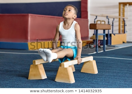Little talented gymnast Stock photo © Anna_Om