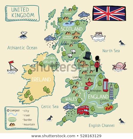 vlag · groot-brittannië · detail · zijdeachtig · ondiep · achtergrond - stockfoto © grafvision