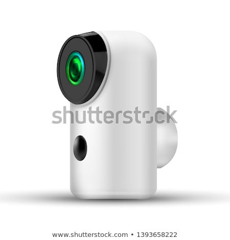 modern compact baby security wifi ip camera vector stock photo © pikepicture