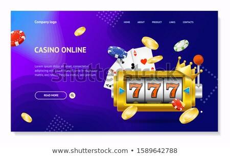 Online póker leszállás oldal üzletember okostelefon Stock fotó © RAStudio