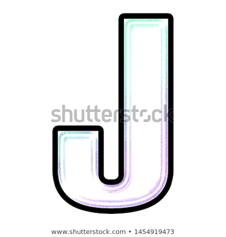 black outline font letter j 3d stock photo © djmilic