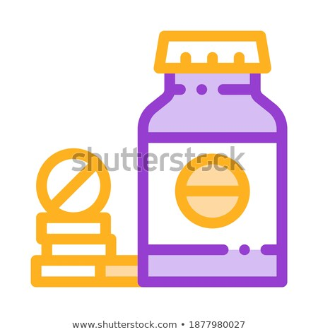 bio supplements drugs bottle vector thin line icon stock photo © pikepicture