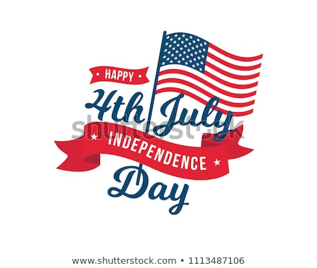 fourth of july sign label tag emblem Stock photo © vector1st