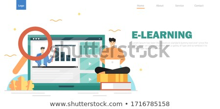 Online Courses Video Website, Analysis of Web Page Stock photo © robuart