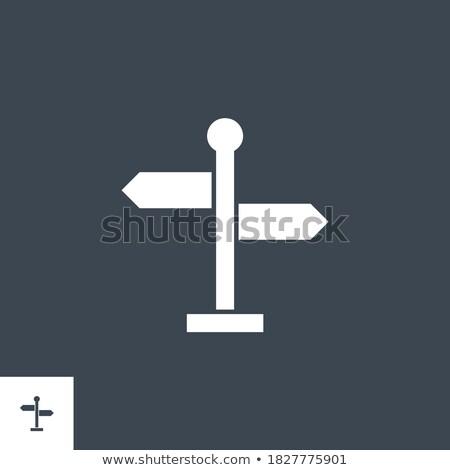 Tabelasını vektör ikon yalıtılmış beyaz yol Stok fotoğraf © smoki