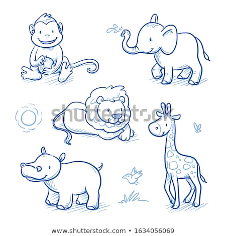 Cartoon cute sketchy doodles Africa illustration Stock photo © balabolka