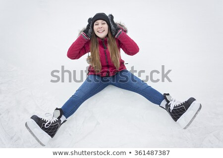 Foto jonge vrouw problemen schaatsen meisje gezicht Stockfoto © Lopolo