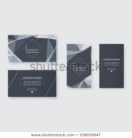 white business card design with network mesh lines Stock photo © SArts
