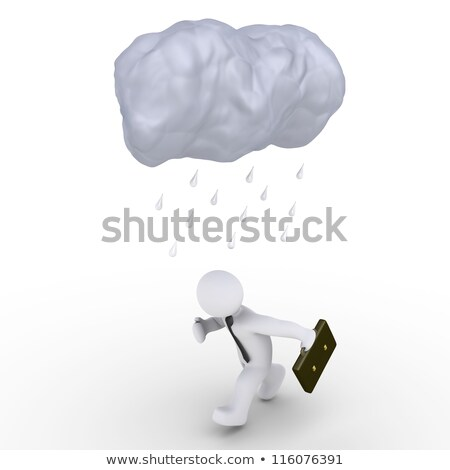 3d White People Businessman Running With A Suitcase Photo stock © 6kor3dos