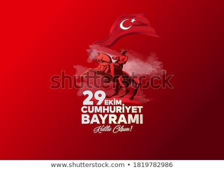 Republiek dag Turkije turks festival vertaling Stockfoto © sgursozlu