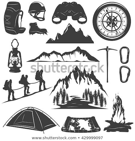 Kemping namiot sportu wyposażenie wektora ikona Zdjęcia stock © pikepicture