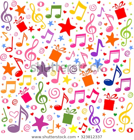 Multi-coloured Musical notes  Stock photo © mayboro