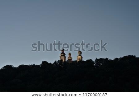 Kolostor Krakkó utca templom kék sziluett Stock fotó © benkrut