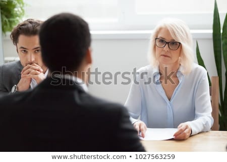 Stressed Young Business Man Failing Interview Stock photo © AndreyPopov