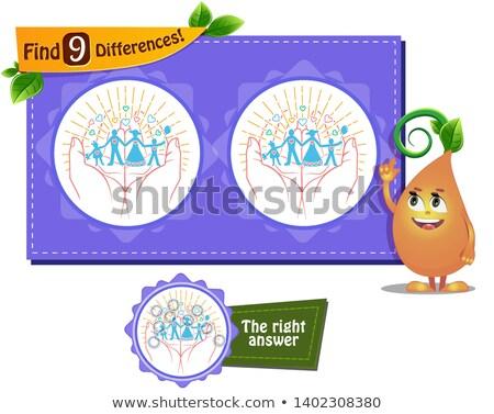 Fordító játék különbségek család gyerekek felnőttek Stock fotó © Olena
