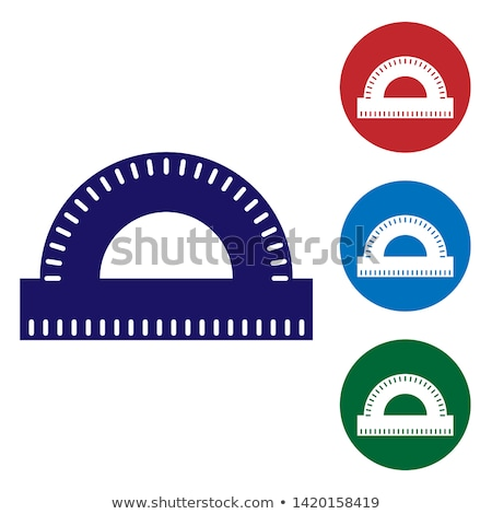 ruler and angle protractor school tools color vector stock photo © pikepicture
