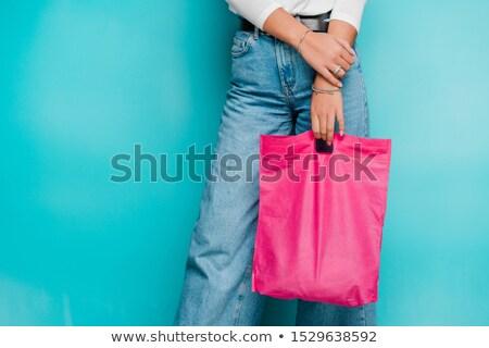 小さな カジュアル 女性 買い物客 ストックフォト © pressmaster