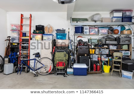 Home vuile dozen rack puinhoop Stockfoto © AndreyPopov