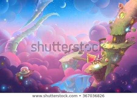 Girl Vivid Dreams Illustration Stock photo © lenm