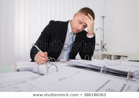 Boekhouder werken laat kantoor vergadering Stockfoto © AndreyPopov