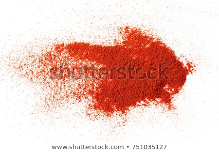 Cayenne Pepper Powder Isolated On White Background Stock photo © Bozena_Fulawka
