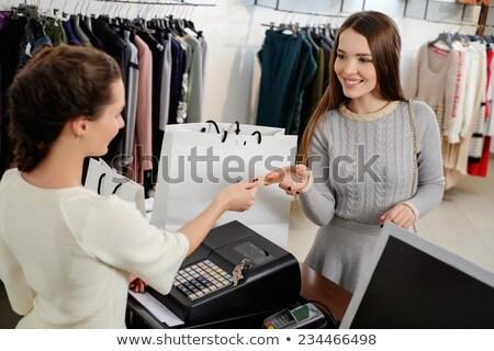 幸せ 女性 顧客 クレジットカード ファッション ストックフォト © boggy