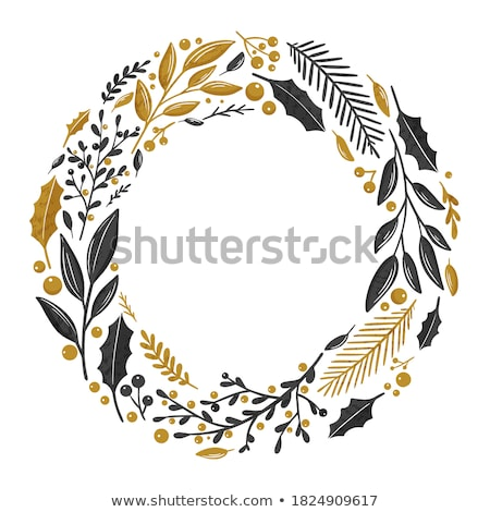 Postcard Happy Winter Days with Fir-tree Vector Stock photo © robuart