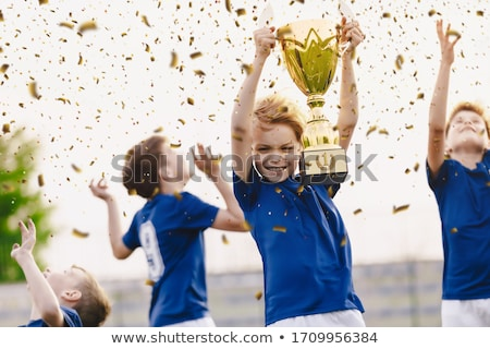 Feliz ninos deporte equipo dorado Foto stock © matimix