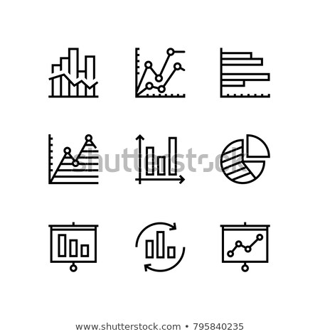 Data analysis, chart, diagram vector simple icons for web and mobile design pack 2 Stock photo © karetniy
