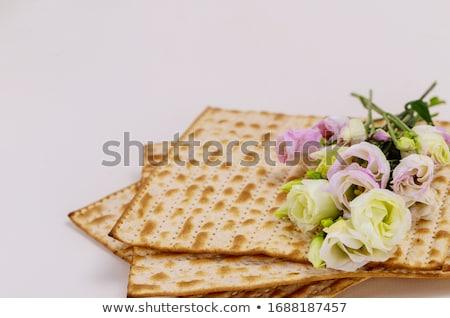 Sembolik tatil Yahudilerin hamursuz bayramı kutlama bahar şarap Stok fotoğraf © furmanphoto