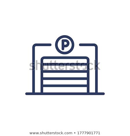 Auto Parkplatz geschlossen Symbol Vektor Gliederung Stock foto © pikepicture