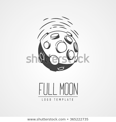 Moon With Craters Icon Outline Illustration Stock photo © pikepicture