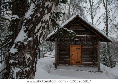 Antique wooden distillery house Stock photo © olira