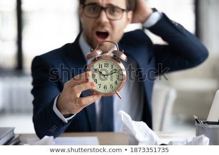 ビジネスマン 従業員 切迫 締め切り アラーム 目覚まし時計 ストックフォト © Elnur