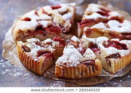 Házi készítésű rusztikus torták finom pipacs magok Stock fotó © Peteer