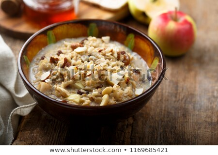 Tazón muesli casero alimentos desayuno grano Foto stock © Alex9500