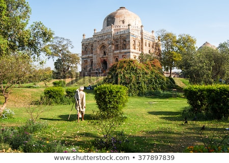 Sheesh Gumbad tomb in Lodi Gardens city park in Delhi, India Stock photo © dmitry_rukhlenko
