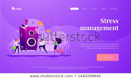 Strony gry lądowanie strona studentów Zdjęcia stock © RAStudio