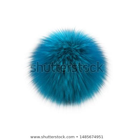 Resumen mullido pelota 3d aislado blanco Foto stock © montego