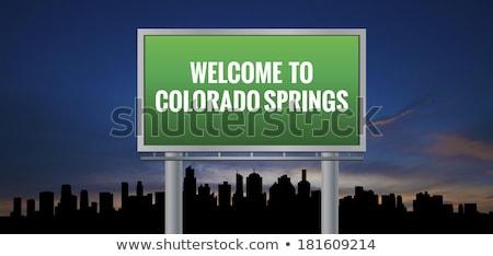 Colorado autópálya tábla zöld USA felhő utca Stock fotó © kbuntu