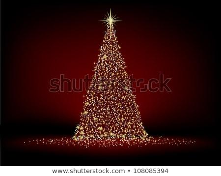 Karácsonyfa illusztráció arany eps vektor akta Stock fotó © beholdereye