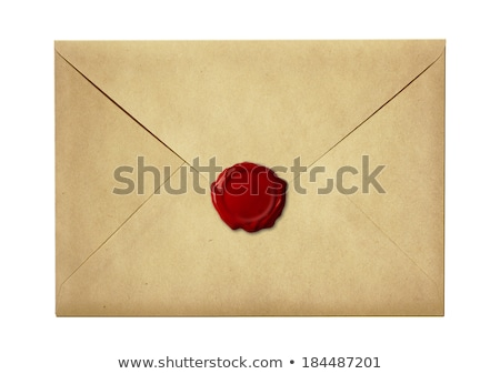 Foto d'archivio: Mail And Post Red Sealed Envelope Isolated