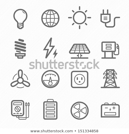 Stock fotó: Atomic And Nuclear Energy Icons