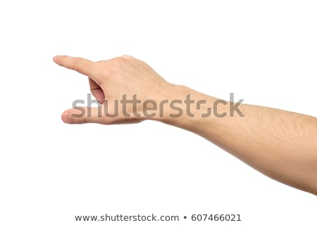 Stock photo: Men indicating by hand