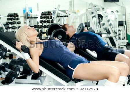 erkek · spor · salon · el · egzersiz · çocuk - stok fotoğraf © Paha_L