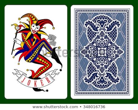 vetor · jogar · cartão · ardente · projeto · ilustração - foto stock © sahua